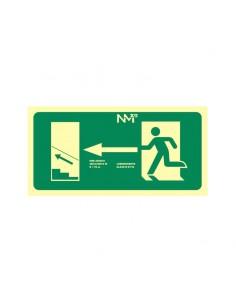 Señal evacuación izquierda...