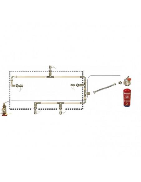 Sistema de extinción de incendios en campanas extractoras murales de 150 cm