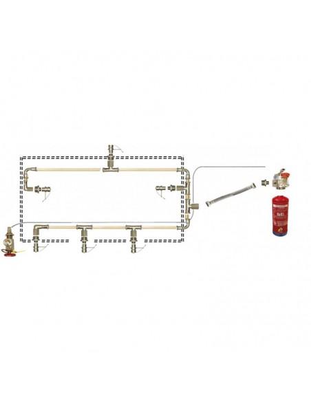 Sistema automático de extinción de incendios en cocinas para campana de 250 cm