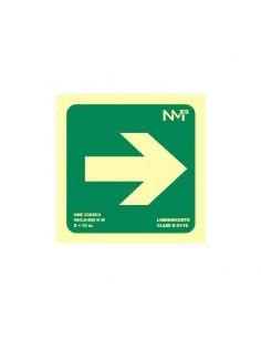 Señal flecha derecha evacuación