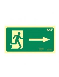 Señal Evacuación derecha